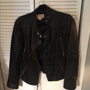 Michael Kors Black Leather Jacket